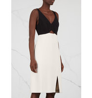 Halston Heritage Monochrome cut out dress