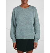 Isabel Marant Etoile Clifton duck egg mohair blend jumper