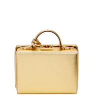 Mark Cross Grace small gold leather box bag