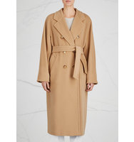 Max Mara Madame camel wool and cashmere blend coat