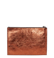 McQ Alexander McQueen Bronze leather pouch