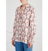 Mother of Pearl Ethel floral print twill shirt