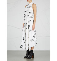 Proenza Schouler Off white asymmetric fil coup dress