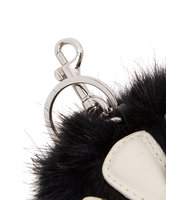 Stella McCartney Black faux fur paw keyring