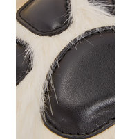 Stella McCartney Off white faux fur paw keyring