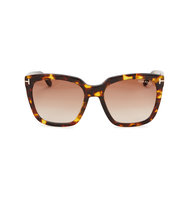 Tom Ford Eyewear Amarra tortoiseshell square frame sunglasses