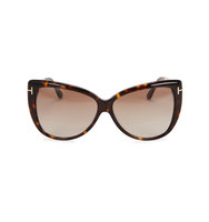 Tom Ford Eyewear Reveka tortoiseshell cat eye sunglasses