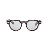 Tom Ford Marbled round frame optical glasses