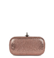 Vivienne Westwood Verona rose gold leather box clutch