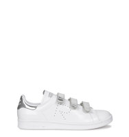 adidas X Raf Simons Stan Smith white and silver leather trainers