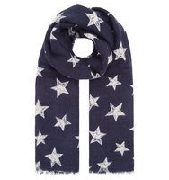 Accessorize Cosmic star scarf Navy