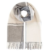 Accessorize Fleet street check blanket scarf Charcoal
