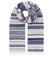 Accessorize Miya fairisle scarf Multi Coloured