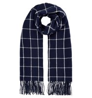 Accessorize Notting hill check scarf Navy