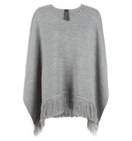 Accessorize Opp knitted poncho Charcoal