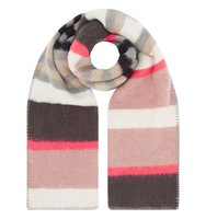 Accessorize Pastel brushed stripe scarf Multi Coloured