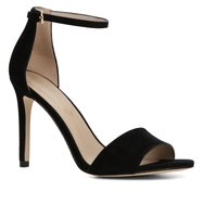 Aldo Fiolla two piece high heel sandals Black Suede