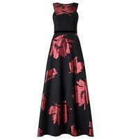 Ariella Maddox Floral Print Dress Black
