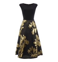 Ariella Midi jacquard dress Black