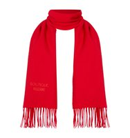 Boutique Moschino Logo wool scard Red