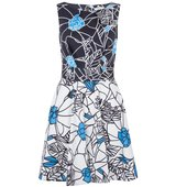Closet Floral Tie Back Dress Black White