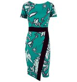 Closet Multi Contrast Floral Wrap Skirt Dress Multi Coloured