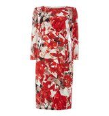 Episode Floral printed dress with tie Graphic Floral Print