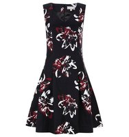 Havren Delilah Fit and Flare Dress Multi Coloured