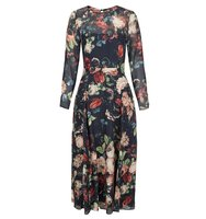 Hobbs Midnight Floral Dress Blue