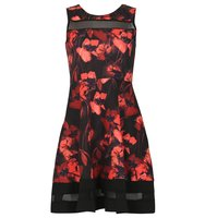 Izabel London Fit n Flare Floral Vintage Dress Red