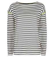 Jaeger Tipped Winte Breton Top Navy