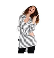 Alexander McQueen Alexander Mcqueen Woman Striped Tunic Shirt