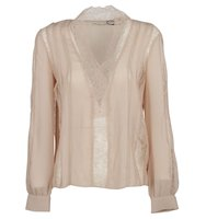 Alice Olivia Alice And Olivia Robbie Sheer Lace Blouse
