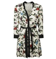 Alice Olivia Belted Floral Tunic Dress