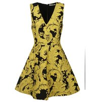 Alice Olivia V Neck Printed Dress