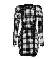 Balmain Balmain Harlequin Pattern Knit Dress