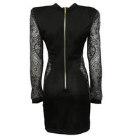 Balmain Balmain Plunging Lace Panels Dress