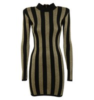 Balmain Balmain Striped Bodycon Dress