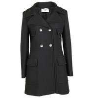 Dondup Dondup Woman Double Breasted Black Coat