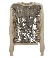 Emilio Pucci Emilio Pucci Natural Sequin Front Knitted Jumper