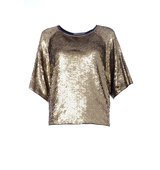 MICHAEL Michael Kors Cotton Ruffled Sequin Embellished Top