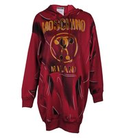 Moschino Optical Illusion Logo Sweatshirt Dress