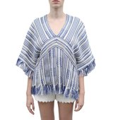 Tory Burch Linen And Cotton Poncho