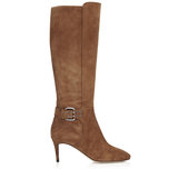Jimmy Choo Darwin 65 Khaki Brown Suede Knee High Boots