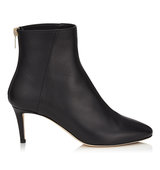 Jimmy Choo Duke 65 Black Grainy Calf Leather Ankle Boots