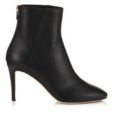Jimmy Choo Duke 85 Black Grainy Calf Leather Ankle Boots