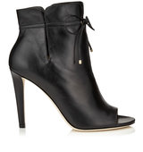 Jimmy Choo Memphis 100 Black Soft Leather Ankle Booties