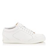 Jimmy Choo Miami White Calf Leather Low Top Trainers