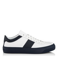 Jimmy Choo Portman White And Uniform Blue Sport Calf Mix Low Top Trainers