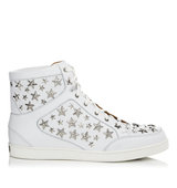 Jimmy Choo Tokyo White Leather Trainers With Stars
